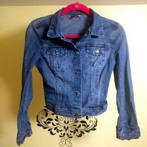 Cropped Stretch Denim Jacket (Found!)